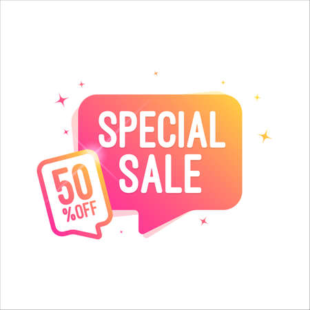 Special Sale 50% Off Shopping Tag