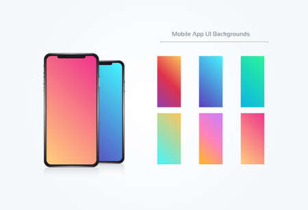 Soft Color Background Set Phone UI