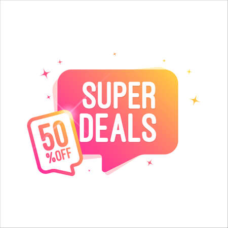 Super Deals 50% Off Shopping Tag