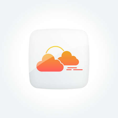 Sunset Cloudy Modern Gradient Icons Set