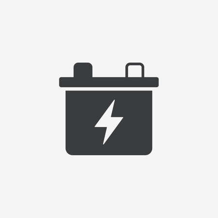 Car Battery Flat Vector Icon