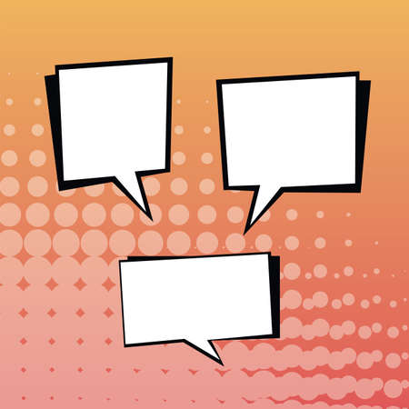 Comic Text Speech Bubble Set