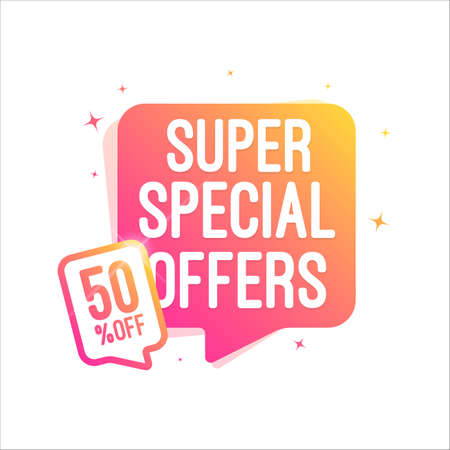 Super Special Offers 50% Off Shopping Tag