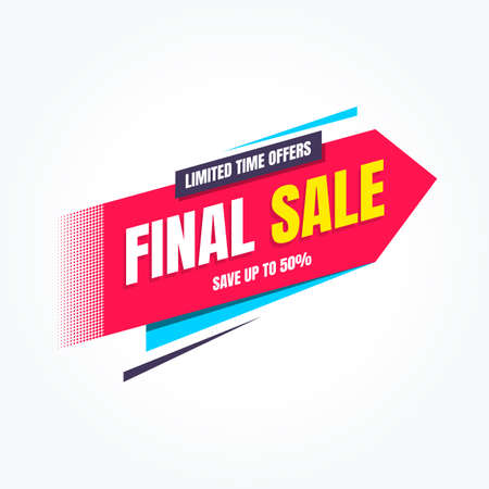 Final Sale Limited Time Offers Shopping Label
