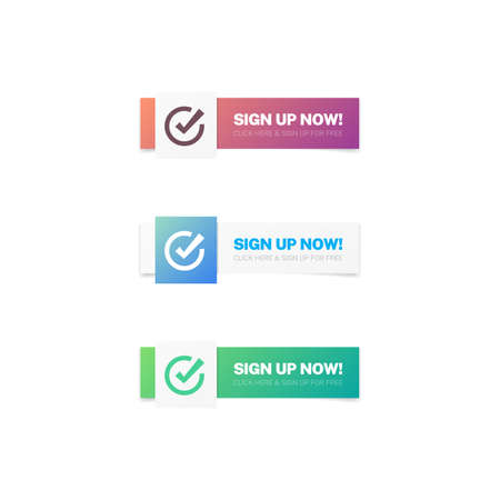 Sign Up Now Modern Web Buttons