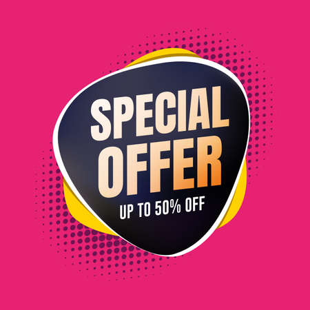 Special Offer 50% Off Shopping Label Stock Illustratie