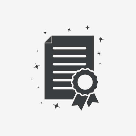 Certificate Award Achievement Flat Vector Icon