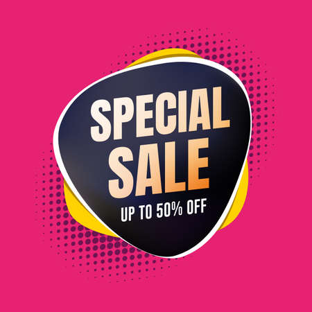 Special Sale 50% Off Shopping Label