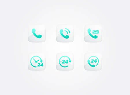 Call Service Modern Gradient Icons Set