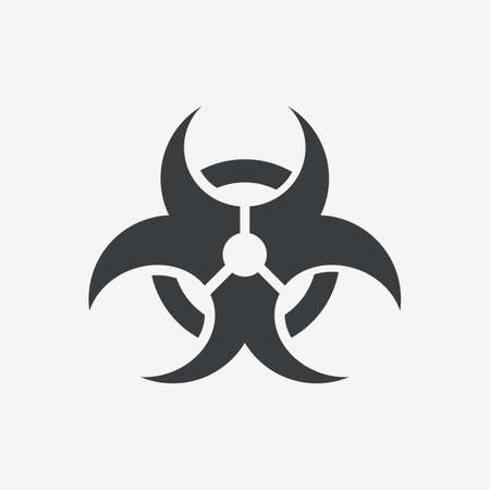 Biohazard Dangerous Flat Vector Icon