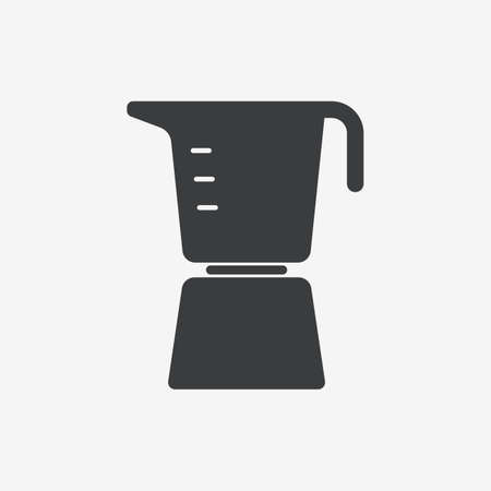 Italian Metallic Coffee Maker Flat Vector Icon