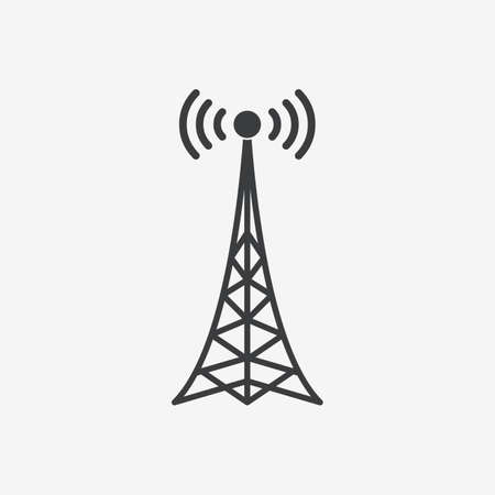 Antenna Tower Flat Vector Icon Stock Illustratie