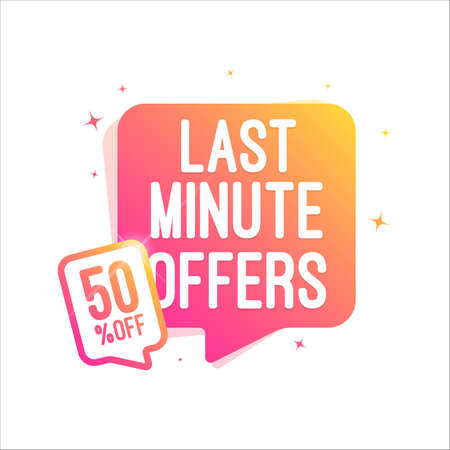 Last Minute Offers 50% Off Shopping Tag