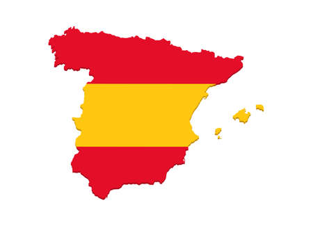 Spain Flag Vector Map