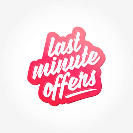 Last Minute Offers Lettering Label