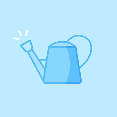Watering Can Blue Vector Icon Background
