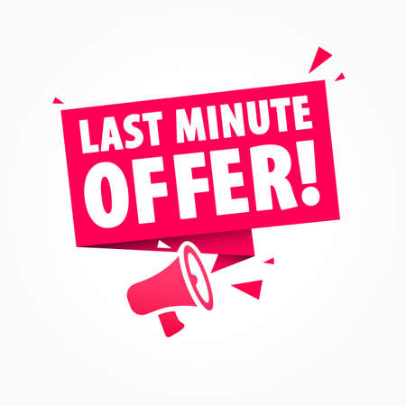 Last Minute Offer Advertising Shopping Label