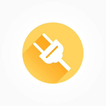 Plug Long Shadow Color Icon Иллюстрация