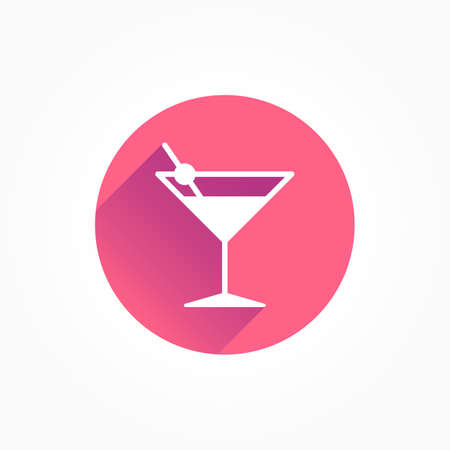Cocktail Long Shadow Color Icon