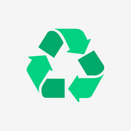 Eco Recycle Flat Color Design Icon
