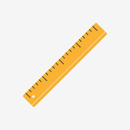 Ruler Color Flat Design Icon