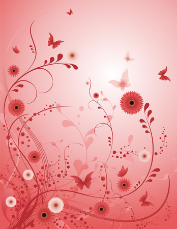 Rose flower vector background, Ill8 file included
