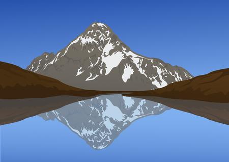 leque: Mountain landscape, vector illustration, EPS file included