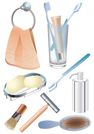 Morning hygiene objects, vetcor illustration, file included Stock Vector - 2748152