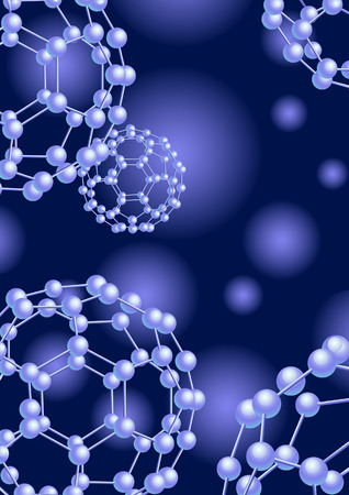 nautical structure: Blue molecule background, vector illustration, file included Illustration