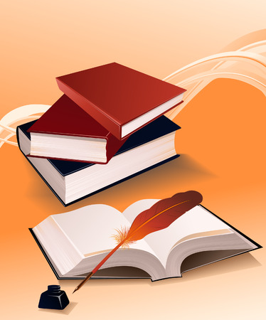 Books, vector illustration, file included Vector