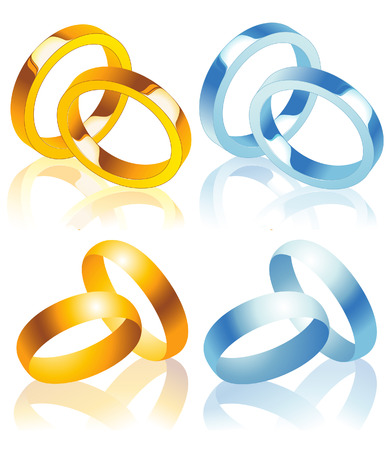 rings, vector illustration, EPS file included Vector