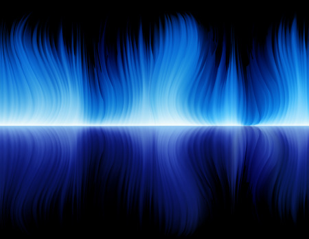 Blue flame, vector illustration, EPS file included Stock Vector - 3541932