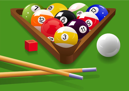 Billiard, vector illustration, EPS file included