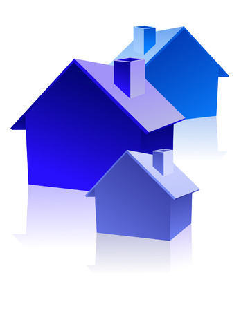 Homes, vector illustration, EPS file included Vector