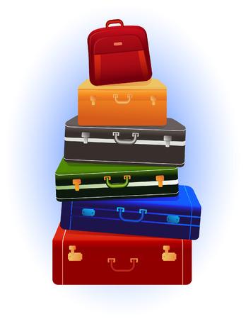 luggage: Travel luggage, vector illustration, EPS file included Illustration