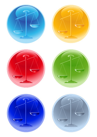 Balance icons, vector illustration, EPS file included Vector