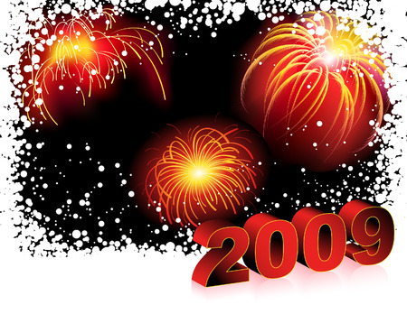 New Years red background, vector illustration, EPS files included Vector