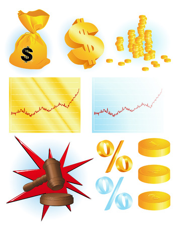 Financial objects, vector illustration, EPS file included