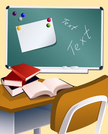 School board and books, vector illusration, EPS file included Vector
