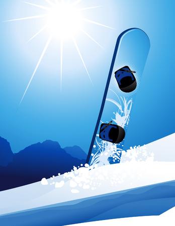 snowdrifts: Snowboard, illustrazione vettoriale, inclusi file EPS