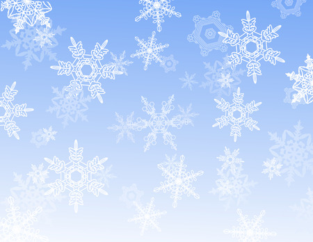 ai: Snowflake reflection, vector illustration, EPS and AI files included