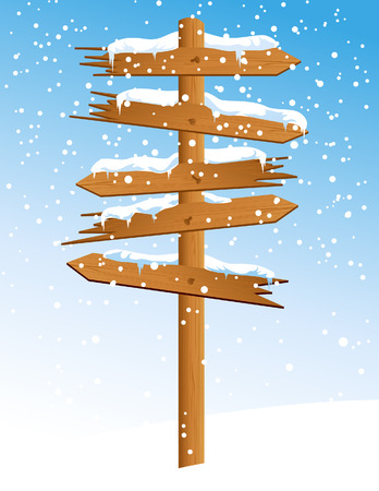 Winter arrow with snowfall, vector illustration, EPS file included Vector