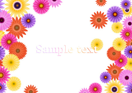 ai: Aster flower background, vector illustration, EPS and AI files included