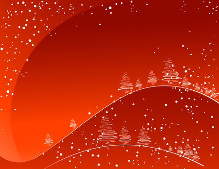 Red winter background, vector illustration, EPS and AI files included Vector
