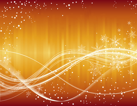 Christmas golden snowflake background, vector illustration, EPS file included Vector