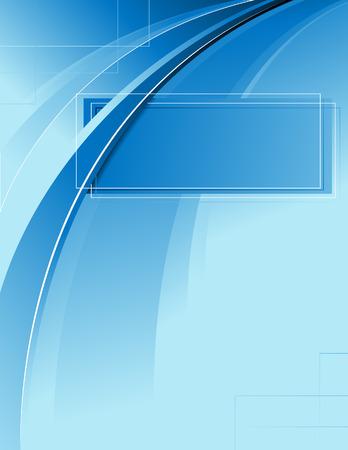 Blue frame, vector illustration, EPS file included Illustration