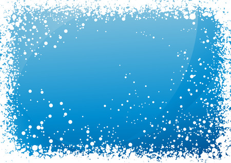 Blue snowfall background, vector illustration, EPS file included