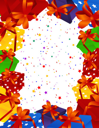 vector file: Christmas present background, vector illustration, file included