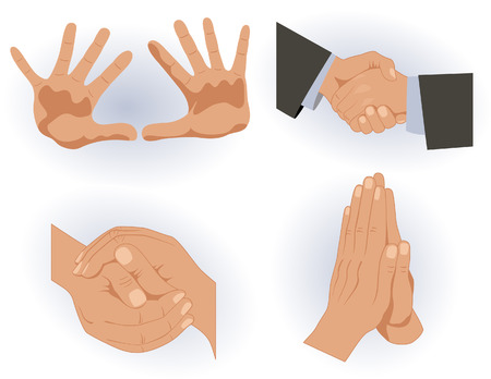 arms outstretched: Hands, vector illustration, file included Illustration