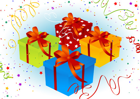 Birthday present background, vector illustration, file included Vector